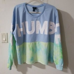 Rue 21, cropped sweatshirt, be humble